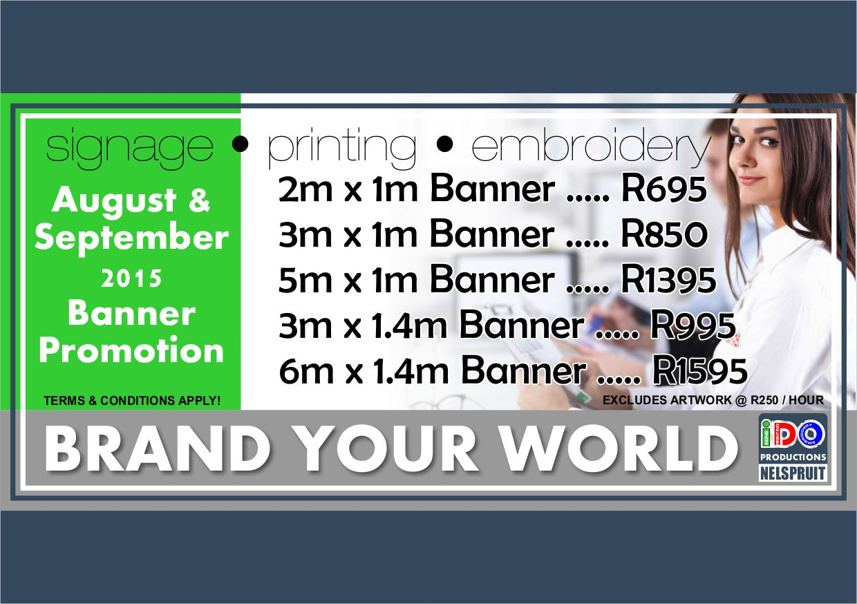 iDOproductions Nelspruit Banner Promo