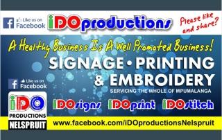 Like Us on Facebook iDOproductions Nelspruit