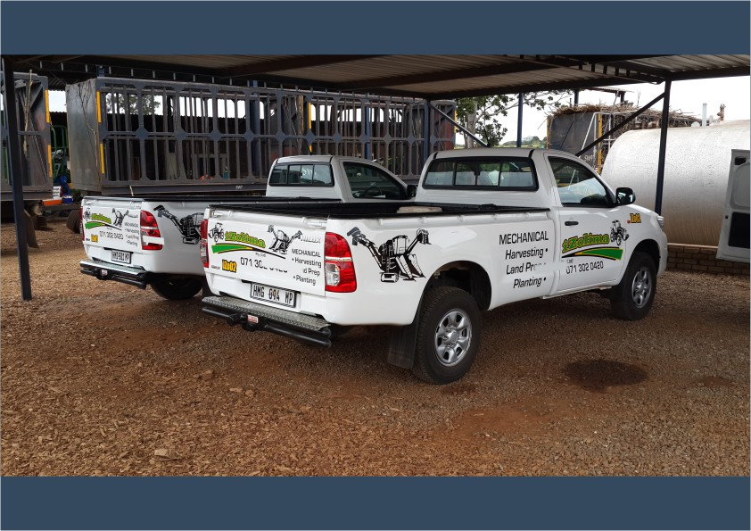 Bakkie Fleet Branding Cut-out vinyl iDOproductions Nelspruit